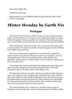 Garth Nix - Keys to the Kingdom 1 - Mister Monday