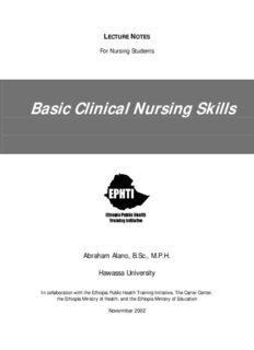 Basic Clinical Nursing Skills - The Carter Center