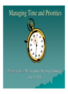 Time Management: Based on Sally McGhee's Take Back your Life!