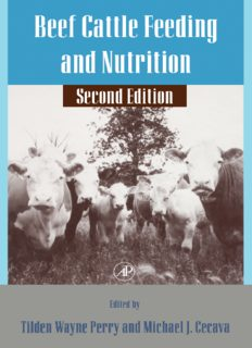 Beef Cattle Feeding and Nutrition 2nd Edition (Animal Feeding and Nutrition)