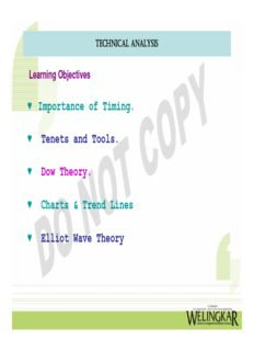 Importance of Timing. Tenets and Tools. Dow Theory. Charts & Trend Lines Elliot Wave Theory