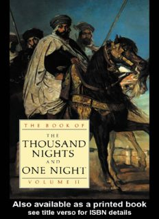 The Book of the  Thousand Nights and One Night - Vol 2