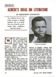 Achebe's Ideas on Literature, An Analysis of Chinua Achebe's Arrow of God.