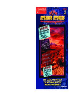 Strange but True Stories - Book 2: Bob Lazar, the Ufo Guy   the Mothman Mystery   Mischievous Spirits ... and More (Strange But True)
