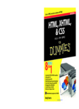 HTML, XHTML, and CSS All-in-one for Dummies - ALFREDO