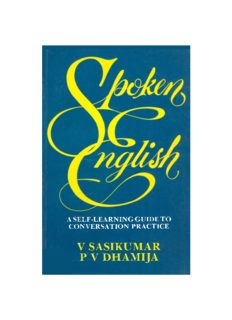 Spoken English: A Self-Learning Guide to Conversation Practice