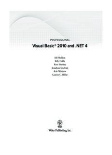 Professional Visual Basic 2010 and .NET 4 Visual Basic 2010 and .NET 4 = Professional Visual Basic 2010 and .NET Four = Visual Basic 2010 and .NET Four