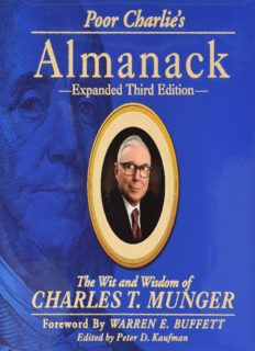 Poor Charlie's Almanack: The Wit and Wisdom of Charles T. Munger