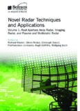 Novel Radar Techniques and Applications, Volume 1: Real Aperture Array Radar, Imaging Radar, and Passive and Multistatic Radar