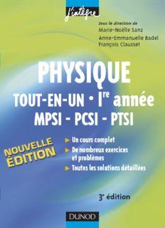 Physique tout-en-un 1re année MPSI-PCSI-PTSI