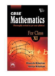 CBSE Mathematics for Class XI