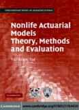 Nonlife Actuarial Models: Theory, Methods and Evaluation (International Series on Actuarial Science)