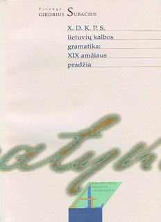 X.D.K.P.S. lietuvių kalbos gramatika