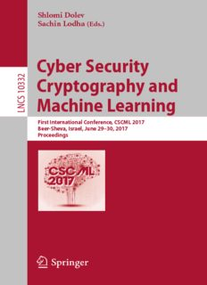 Cyber Security Cryptography and Machine Learning 2017