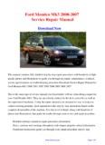 Ford Mondeo Mk3 2000-2007 Service Repair Manual
