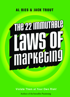 22 Laws of Marketing 10/31/02 12:23 PM Page 2 The 22 of