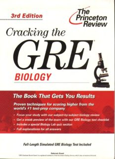 Cracking the GRE Biology Test, 4th Edition (Graduate Test Prep)