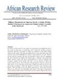 Military Dictatorship in Nigerian Novels: A Study of Helon Habila