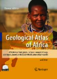 Geological Atlas of Africa: With Notes on Stratigraphy, Tectonics, Economic Geology, Geohazards, Geosites and Geoscientific Education of Each Country - 2nd edition