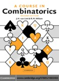 A Course in Combinatorics, SECOND EDITION