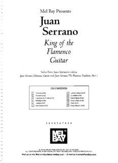 Page 1 Mel Bay Presents Juan Serrano King of the Flamenco Guitar Solos from Juan Serranos ...
