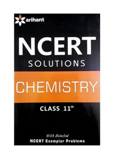 NCERT CBSE Chemistry Class 11 Solution Part 2 Standard XI by Purnima Sharma Arihant Questions and Answers