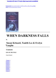 Anthology - When Darkness Falls - Susan Krinard, Tanith Lee, Evelyn Vaughn