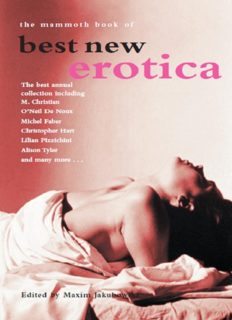 The Mammoth Book of Best New Erotica 3