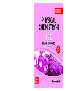Chemistry Module II Physical Chemistry II for IIT JEE main and advanced Ranveer Singh McGraw Hill Education