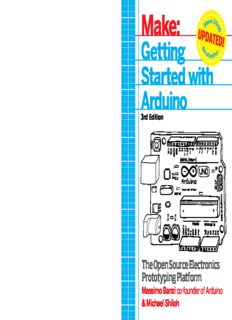 Make: Getting Started with Arduino 3rd Edition: The Open Source Electronics Prototyping Platform
