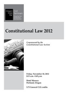 Constitutional Law 2012