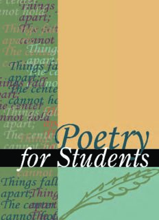 Poetry for students. Volume 16: presenting analysis, context and criticism on commonly studied poetry