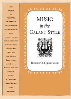 Gjerdingen R.O. – Music in the Galant style