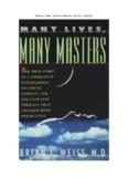 Muitas Vidas, Muitos Mestres [Brian L Weiss]