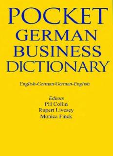 German Business Dictionary: English-German German-English (Bilingual Business Glossary Series)