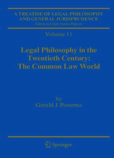 A Treatise of Legal Philosophy and General Jurisprudence: Volume 11: Legal Philosophy in the Twentieth Century: The Common Law World