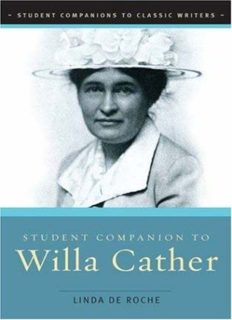 Student Companion to Willa Cather (Student Companions to Classic Writers)