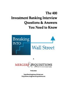 The 400 Investment Banking Interview Questions & Answers You Need to Know