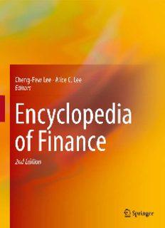 Encyclopedia of Finance
