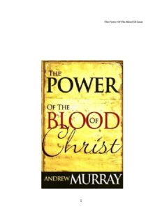 Andrew Murray - THE POWER OF THE BLOOD OF JESUS.pdf