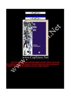 Chuck Palahniuk - Tekinsiz www.CepSitesi.Net