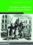 Alcohol, Addiction and Christian Ethics (New Studies in Christian Ethics)