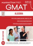 Manhattan GMAT Strategy Guide 2 : Algebra