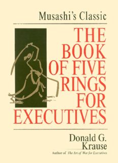 The Book of Five Rings for Executives: Musashi's Classic Book of Competitive Tactics