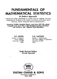 Fundamentals of Mathematical Statistics (A Modern Approach), 10th Edition