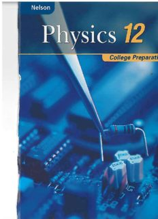 Nelson Physics 12: College Preparation