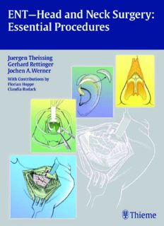 ENT-head and neck surgery: essentials procedures