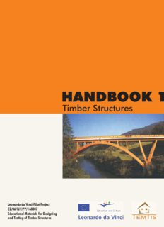 Handbook 1 Timber Structures, september 2008, Vanessa Angst and others, TEMTIS