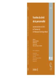Facettes du droit de la personnalité : Journée de droit civil 2013 en l'honneur de la Professeure Dominique Manaï