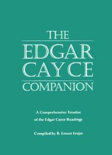 The Edgar Cayce companion a comprehensive treatise of the Edgar Cayce readings